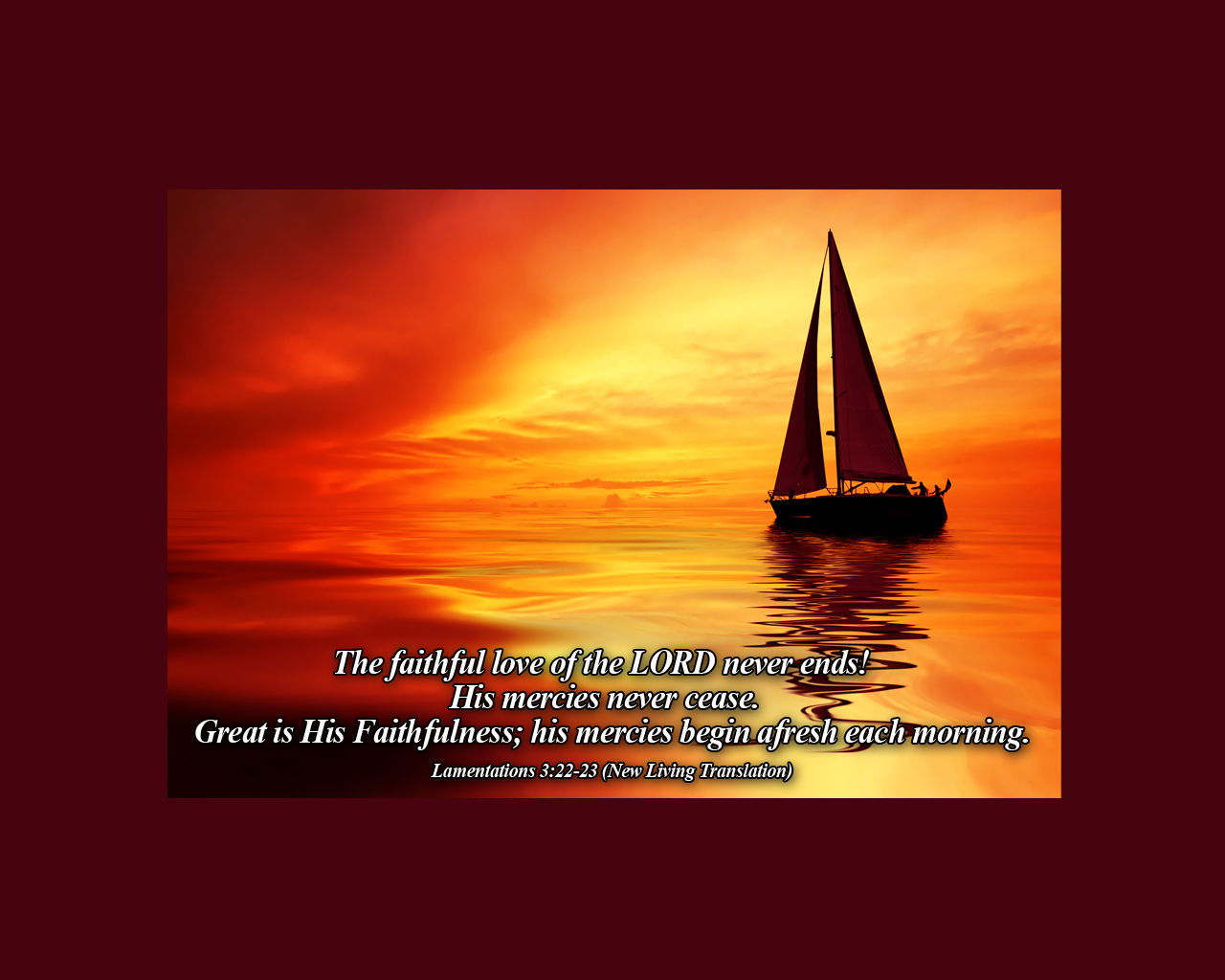 Lamentations 3:22-23 - The Fellowship Site
