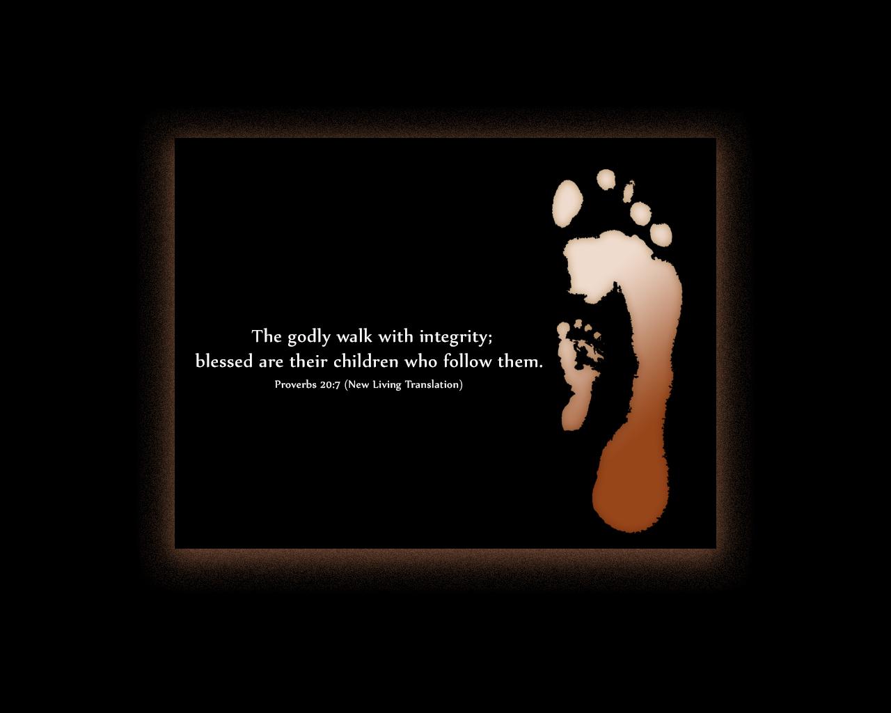 Proverbs 20:7 - The Fellowship Site