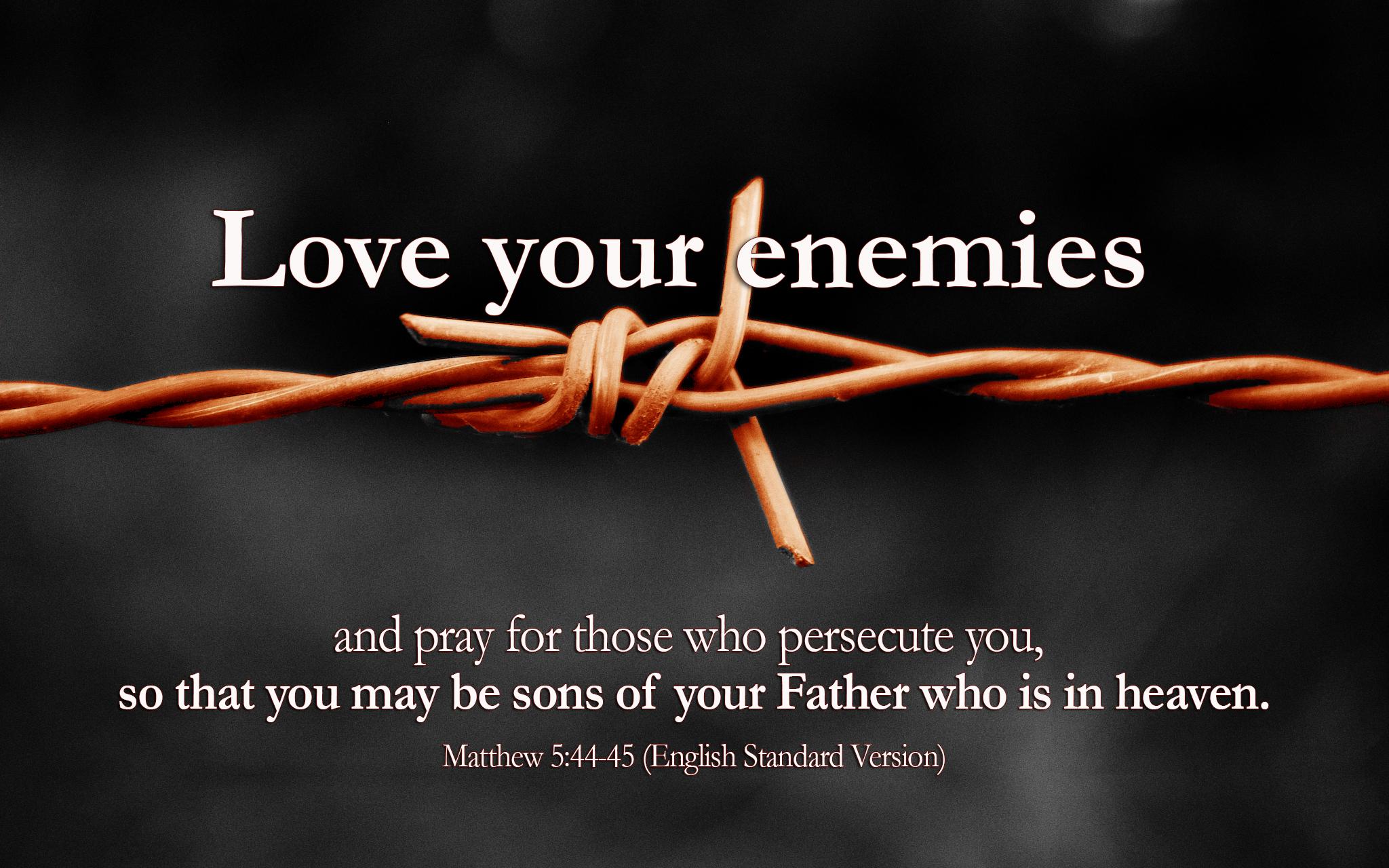Matthew 5:44-45 - The Fellowship Site